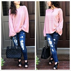 Paris bell sleeves gorgeous sweater